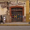 kids walking down a street