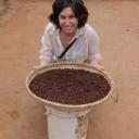 Julie Lesnik with a basket of bugs