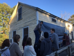 students at the Tillery History House